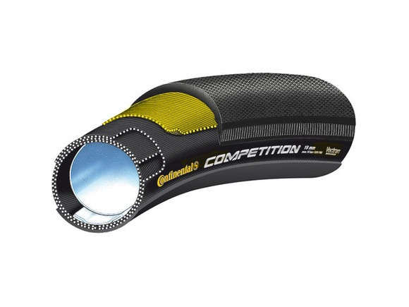 "CONTINENTAL Competition Vectran 26"" x 22mm Black Chili Tubular click to zoom image"