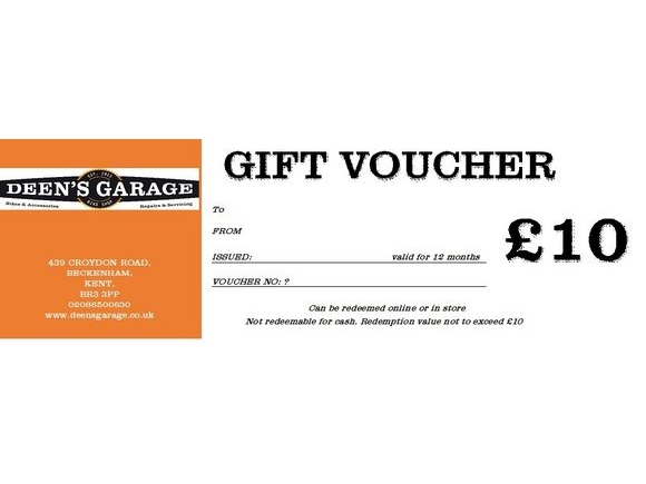 DEENS £10 VOUCHER click to zoom image