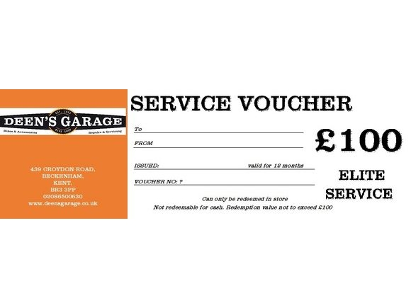 DEENS ELITE SERVICE VOUCHER click to zoom image