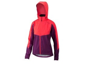 Altura Womens Nightvision Thunderstorm Jacket 2018: Purple/hi-viz Pink Reflective