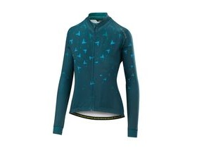 Altura Womens Thermo Flock Long Sleeve Jersey 2018: Teal/blue