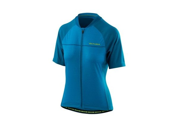 Altura Womens Airstream 2 Short Sleeve Jersey 2018: Vivid Blue/tile Blue click to zoom image