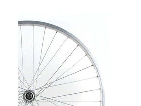 Wilkinson Wheels 27x1 1/4 Rear - Silver Single Wall - Q/R Screw On Hub Silver Spokes, 36 Hole Silver 27 X 1-1/4
