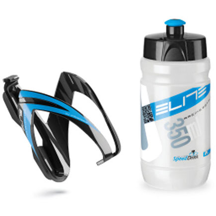 Elite Ceo youth bottle kit includes cage and 66 mm, 350 ml bottle blue click to zoom image