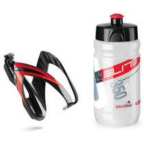 Elite Ceo youth bottle kit includes cage and 66 mm, 350 ml bottle red