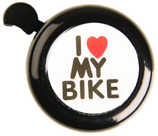 ADIE I Love My Bike Black Classic Bell click to zoom image