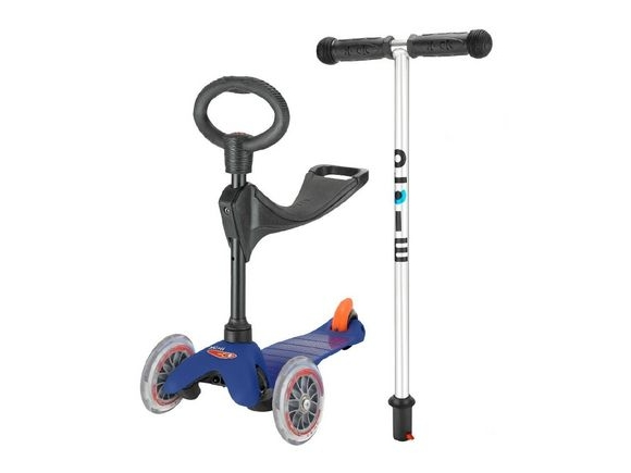 MICRO Mini Micro 3 in 1 Scooter with seat and O-Bar Handle click to zoom image