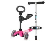 MICRO Mini Micro 3 in 1 Scooter with seat and O-Bar Handle  Pink  click to zoom image