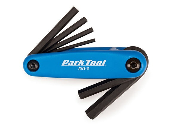 PARK TOOL AWS-11 Fold-Up Hex Wrench Set 3 to 6, 8 & 10mm click to zoom image