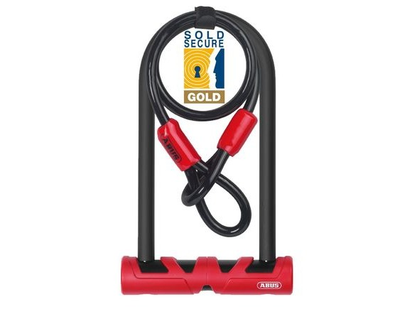 ABUS 420 170hb Ultimate D Lock And Cable Pack Gold Ss: click to zoom image