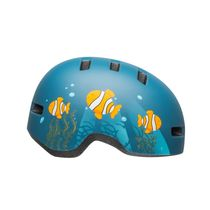 BELL Lil Ripper Children's Helmet 2019: Clown Fish Matte Grey-blue Unisize 47-54cm