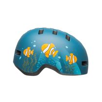 BELL Lil Ripper Toddler Helmet 2019: Clown Fish Matte Grey-blue Unisize 45-51cm