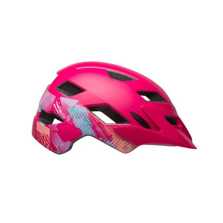 BELL Sidetrack Youth Helmet 2019: Gnarly Matte Berry Unisize 50-57cm click to zoom image
