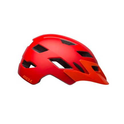 BELL Sidetrack Youth Helmet 2019: Matte Red/Orange Unisize 50-57cm click to zoom image